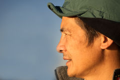 Chinese persoon op middelbare leeftijd in openlucht Stock Afbeelding