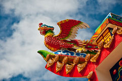 The Chinese phoenix. Of joss house royalty free stock photo