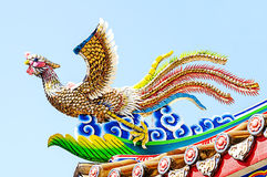 Chinese  phoenix statue . Royalty Free Stock Photo