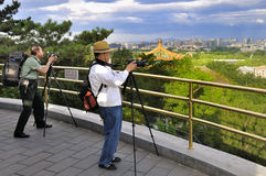 Chinese Photographers Stock Photo