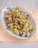 Chinese pickled vegetable fried pork meat Royalty Free Stock Photo
