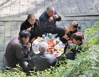 Chinese picknick Royalty Free Stock Images