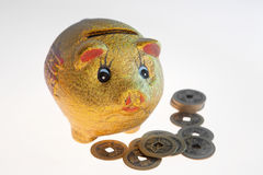 Chinese piggy bank Royalty Free Stock Images