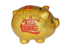 Chinese piggy bank isolated in white background Stock Images