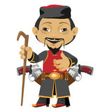 Chinese pilgrim, fictional cartoon character Stock Photography