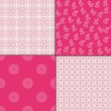 Chinese pink geometric pattern set. Vector illustration. Chinese red geometric pattern set. Vector illustration Royalty Free Stock Image