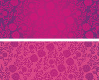 Chinese pink and purple lotus horizontal banners Stock Photography