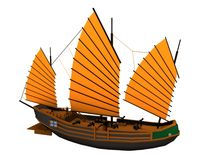 Chinese pirate ship Stock Image