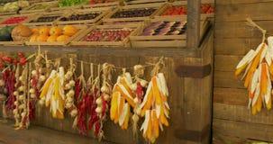 Chinese plantaardige markt stock videobeelden