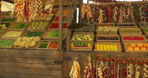 Chinese plantaardige markt stock video