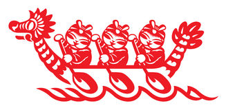 Chinese play the Dragon boat Royalty Free Stock Photo