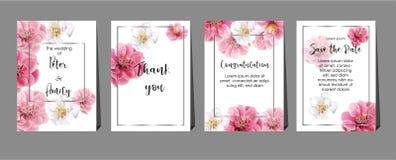 Chinese plum flowers on cards ,wedding,invitation,greeting,congratulation. Vector royalty free illustration