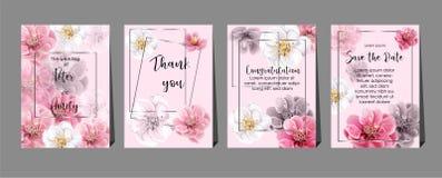 Chinese plum flowers on cards ,wedding,invitation,greeting,congratulation. Vector vector illustration