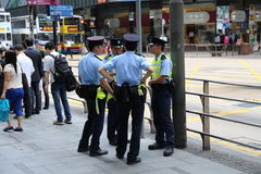 Chinese Police Officers Royalty Free Stock Photography