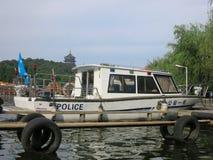 Chinese Politieboot Royalty-vrije Stock Afbeeldingen