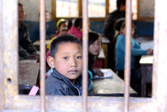 Chinese Poor Children Royalty Free Stock Image