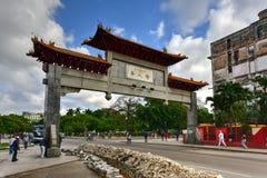 Chinese Poort - Havana, Cuba Stock Afbeelding