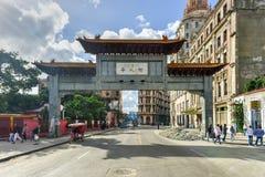 Chinese Poort - Havana, Cuba Stock Foto