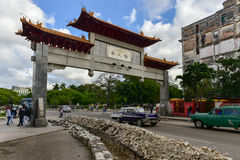 Chinese Poort - Havana, Cuba Stock Fotografie