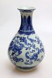 Chinese porcelain. Valuable Chinese porcelain vase isolated on white background Stock Photography