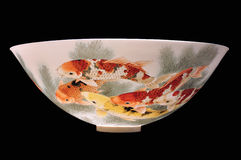 Chinese porcelain bowl isolated Stock Photo