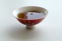 Chinese porcelain bowl with tea for the tea ceremony Stock Photo