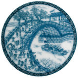Chinese porcelain. Chinaware ; Chinese porcelain, The technique of cobalt blue decorations Stock Image