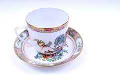 Chinese porcelain cup. Image of cup with beautiful Chinese painting on it Royalty Free Stock Photography