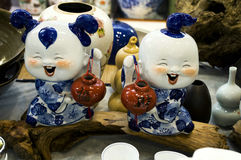 Chinese porcelain doll Stock Photo