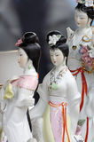 Chinese porcelain figurines flea market Stock Photo