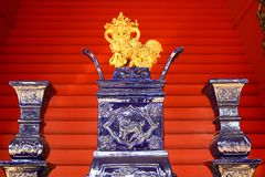 Chinese Porcelain Lion decoration Royalty Free Stock Photos