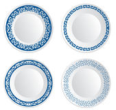 Chinese porcelain plate Royalty Free Stock Photos