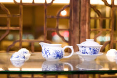 Chinese porcelain tea set Royalty Free Stock Photos