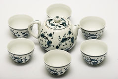 Chinese porcelain tea set Royalty Free Stock Image