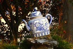 Chinese porcelain teapot Royalty Free Stock Photos