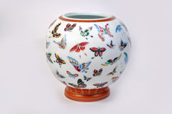 Chinese porcelain vase. On white background Stock Image