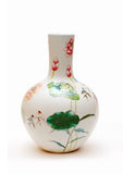 Chinese porcelain vase. On white background stock images