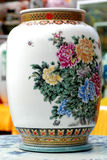 Chinese porcelain vase. On display, china,Jindezhen porcelain wares,traditional paintings of peony Royalty Free Stock Images