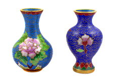 Chinese porcelain vases Stock Photo