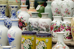 Chinese Porcelains for sale Royalty Free Stock Photos