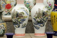 Chinese Porcelains for sale Stock Image