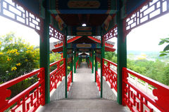 Chinese Porch. The classical chinese porch in a park stock images