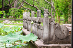 Chinese porch style. At free public park in Bangkok royalty free stock photo
