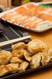 Chinese pork dumplings Stock Photos