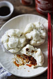 Chinese pork dumplings Royalty Free Stock Images