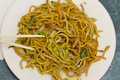 Chinese Pork Lo Mein Stock Image