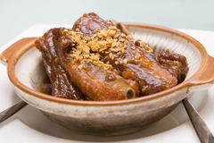 Chinese Pork Ribs. In a pot royalty free stock photos