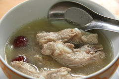 Chinese pork soup Royalty Free Stock Image