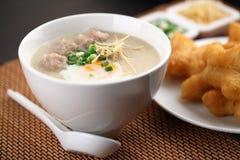 Chinese porridge. Traditional chinese porridge rice gruel in bowl Stock Photos