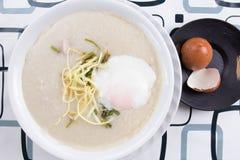 Chinese porridge rice gruel in bowl Stock Images